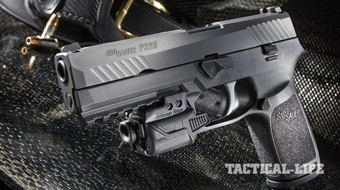 sig P320 voluntary upgrade pistol closeup