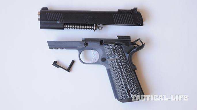 Springfield TRP Operator pistol disassembled