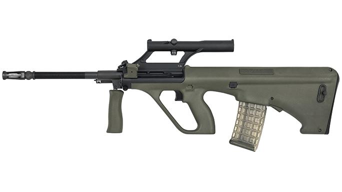 Steyr STG 77 rifle left profile
