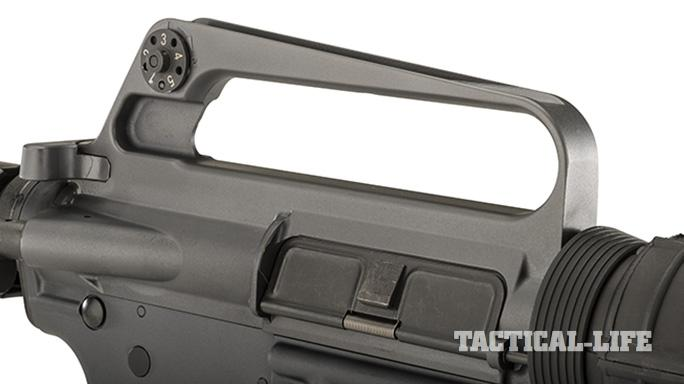 Troy XM177E2 rifle carry handle rear sight