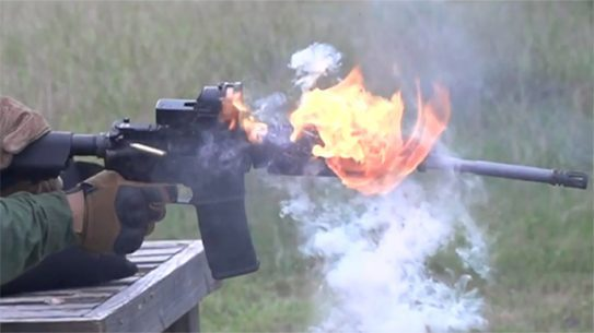 iraqveteran8888 full auto ar-15 meltdown test adams arms