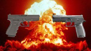Glock vs Sig pistol fanboy debate