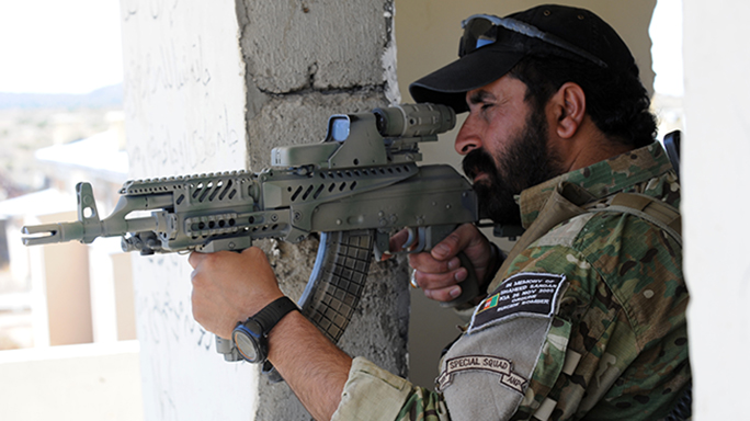 AMD-65 carbine afghan police firing