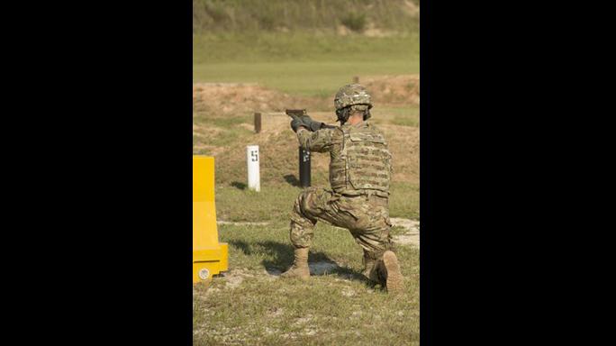 sig sauer p320 mhs xm17 pistol test kneeling