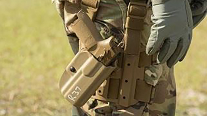 sig sauer p320 mhs xm17 pistol test holster
