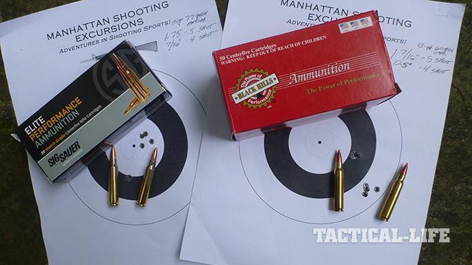 Sig Sauer's M400 Elite rifle target