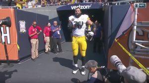Alejandro Villanueva Pittsburgh Steelers National Anthem