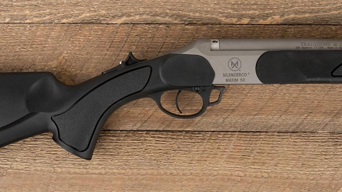 SilencerCo Maxim 50 Integrally Suppressed Muzzleloader trigger