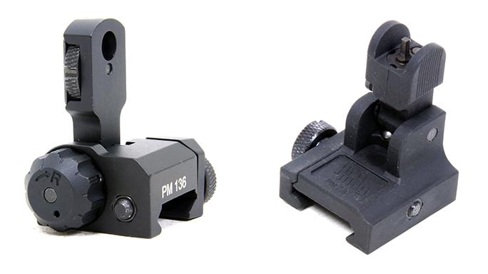 Promag AR-15/M16 Flip Ups backup iron sights