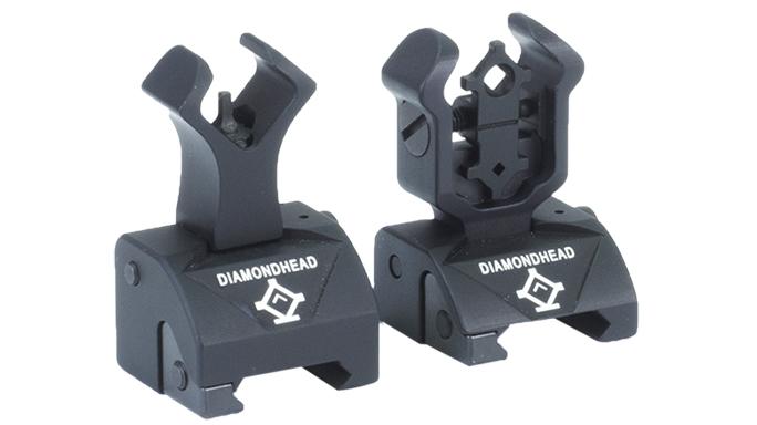 Diamond head ISS backup iron sights