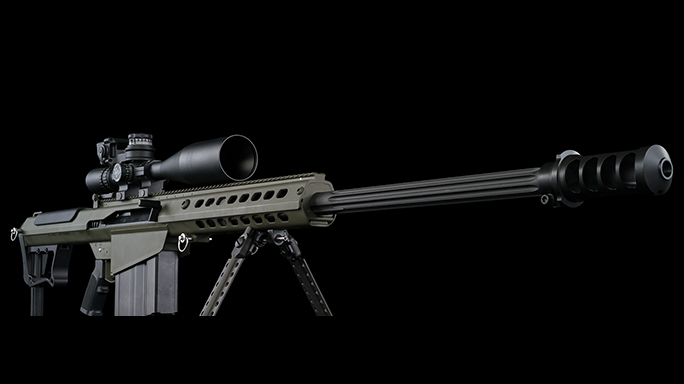 Barrett M107A1 and MRAD rifle right angle