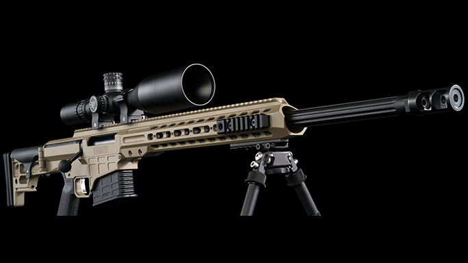 Barrett MRAD rifle right angle