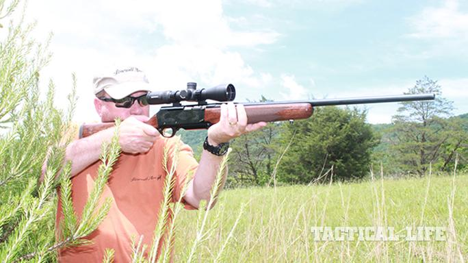 Browning BAR Mark II Safari rifle shooting
