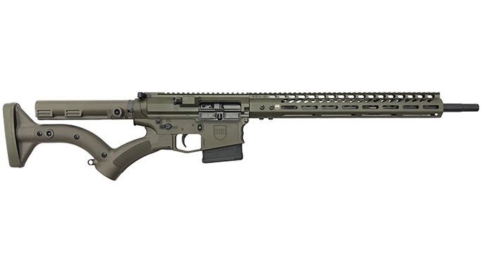 dark storm ds-10 typhoon featureless od green rifle left profile