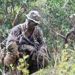 marine corps tropical uniform crouching