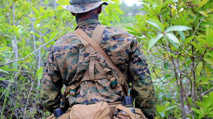 marine corps tropical uniform rear view