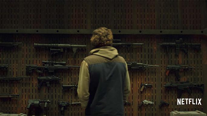 the punisher netflix gun display