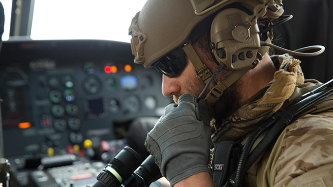 safariland liberator iv headset in helicopter