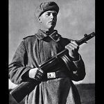Soviet PPSh-41 submachine gun historical photo