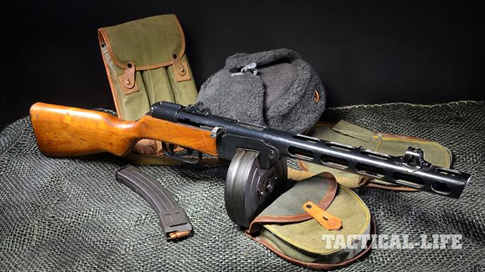 Soviet PPSh-41 submachine gun right angle