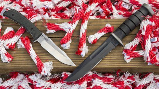 SOG Pillar vs. KA-BAR D2 knives lead