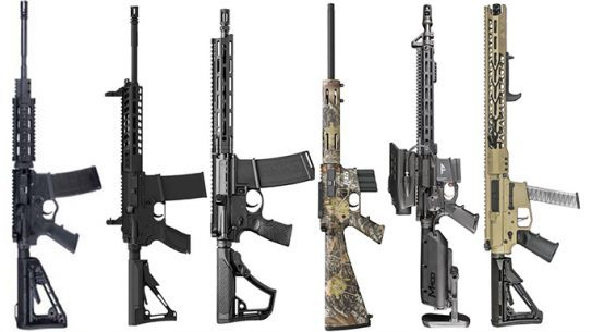 black rifles and carbines