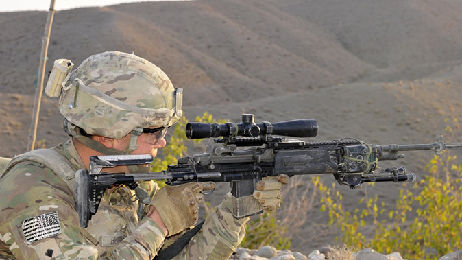 army interim combat service rifle right profile