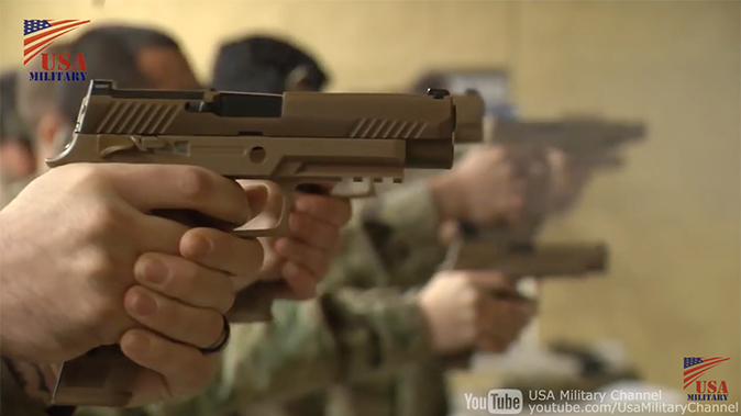 us army m17 m18 pistol rounds downrange