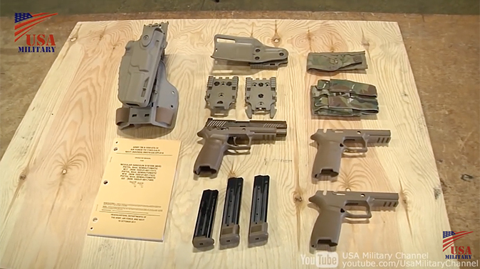 us army m17 m18 pistol disassembled