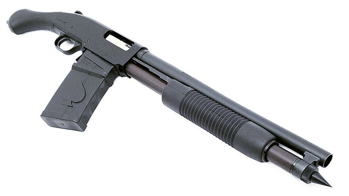 Black Aces Shockwave Magazine Fed 12-Gauge firearm side angle