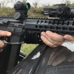 CMMG MkGs Guard rifle on car