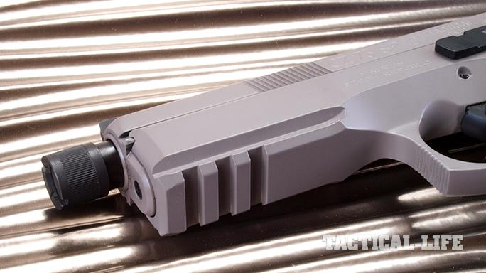 CZ SP-01 Tactical Urban Grey Suppressor-Ready pistol rail
