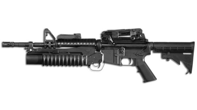 Colt M203 grenade launcher nine-inch barrel