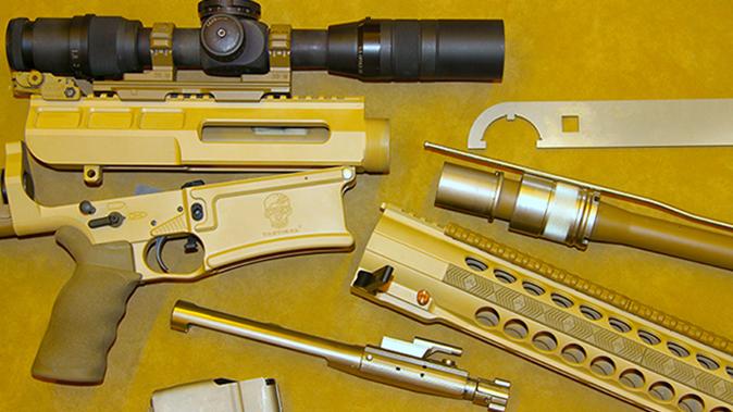DRD Tactical Kivaari 300 Norma Magnum rifle disassembled