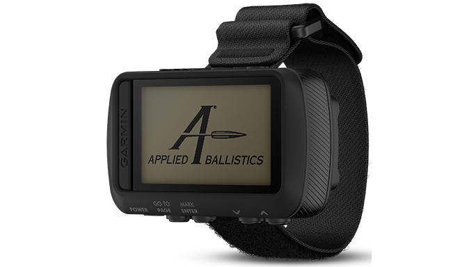 Garmin Foretrex 701 Ballistic Edition applied ballistics screen