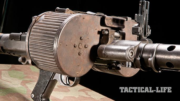 German MG34 Machine Gun drum magazine