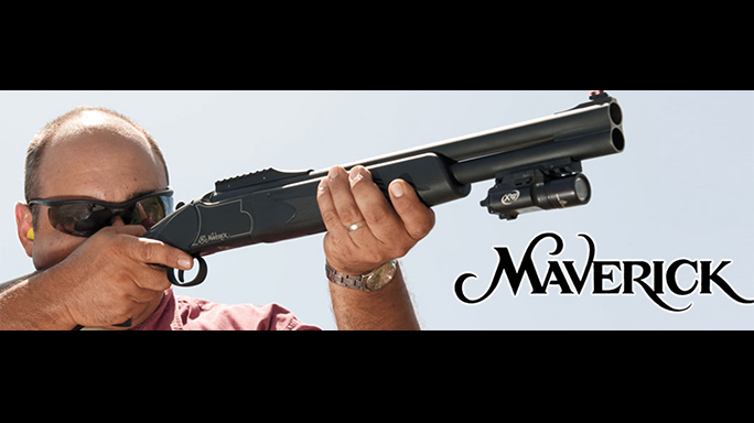 Mossberg Maverick Hunter shotgun angle