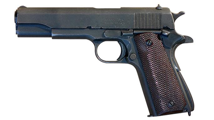 surplus 1911 pistol left profile
