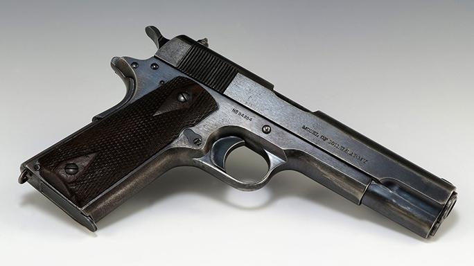 surplus 1911 pistol right angle