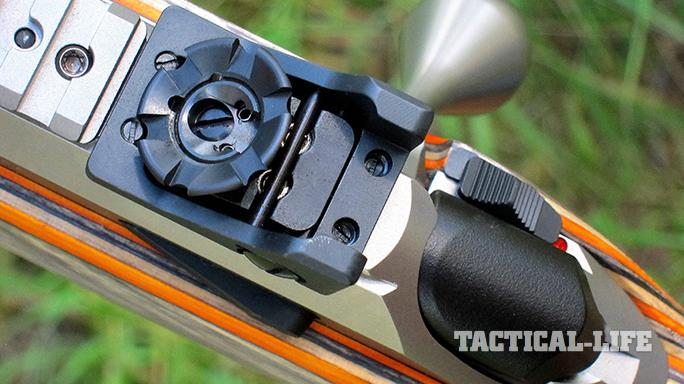 Tikka T3x Arctic rifle rear sight crown