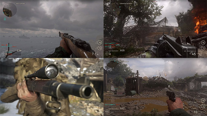 Call of Duty WW2 guns 2017