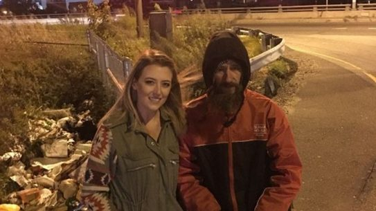 Homeless Veteran Fundraiser Marine Johnny Kate