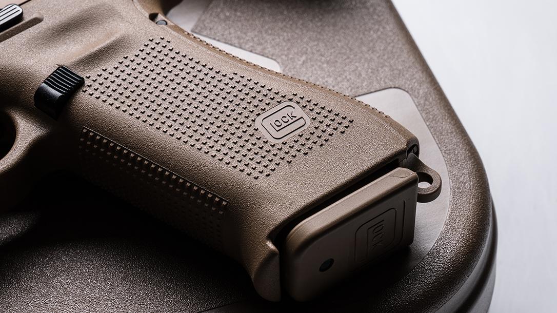 Glock 19X pistol release grip
