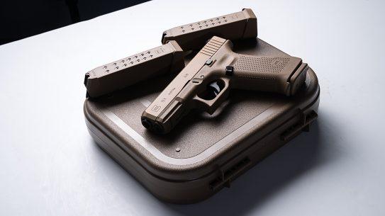 Glock 19X pistol release lead