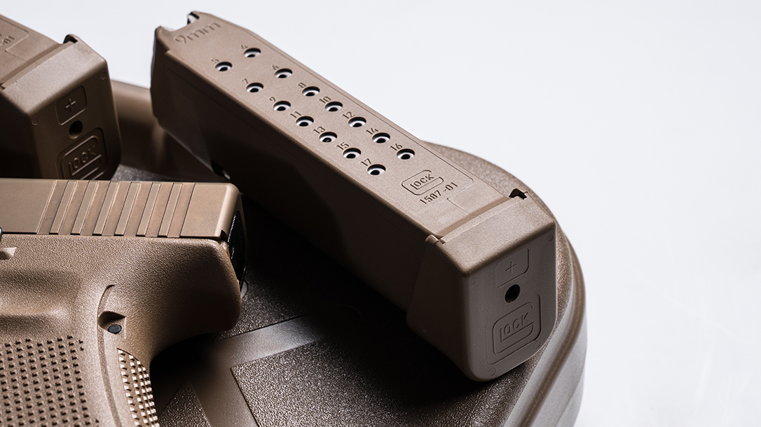 Glock 19X pistol release magazine