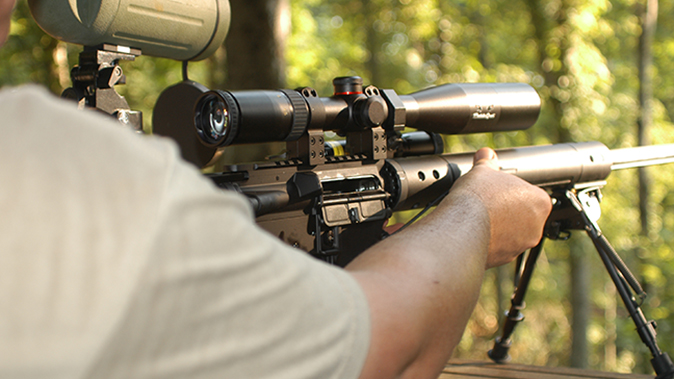 Anderson Heavy Barrel Varminter rifle range test