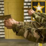 army MHS m17 pistol shooting