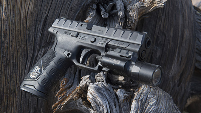 Beretta APX pistol left angle