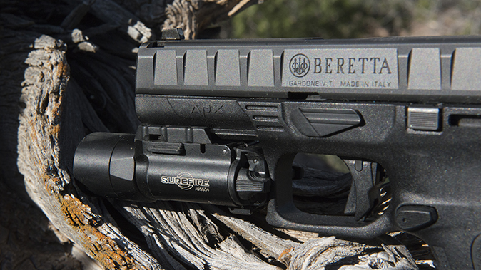 Beretta APX pistol light rail