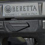 Beretta APX pistol takedown slide
